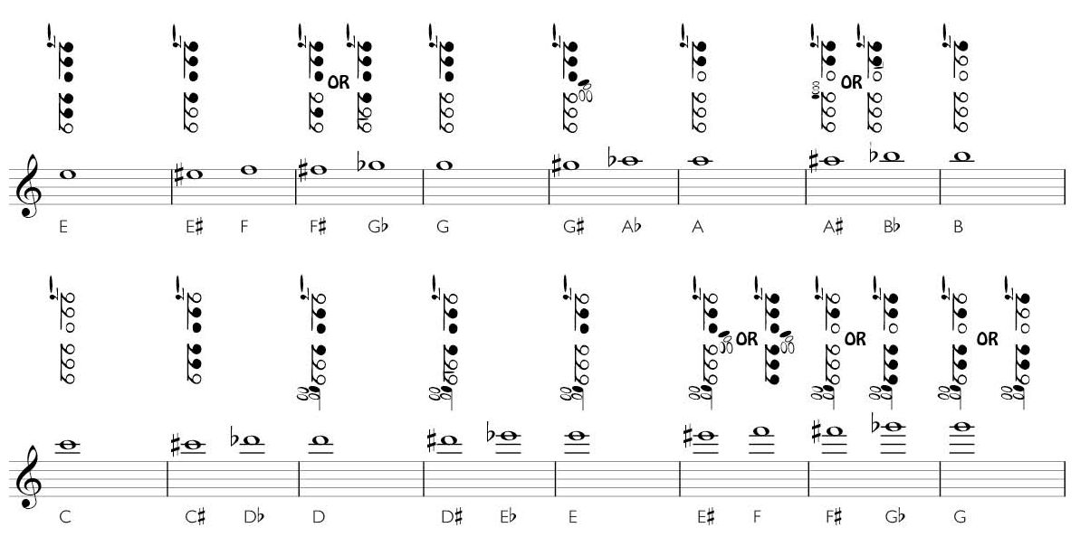 Clarinet Fingering Chart - Saxman New Zealand - Andrew Dixon